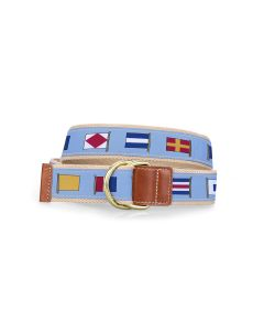 Barrington D-Ring Belt - Nautical Flags