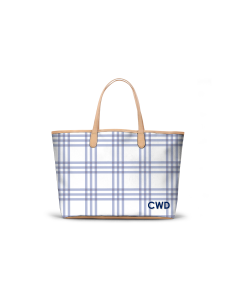 Caitlin Wilson St. Anne Tote - Grande Plaid in Eventide