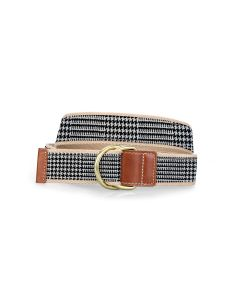 Barrington D-Ring Belt - Glen Plaid
