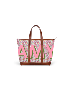 St. Charles Zippered Yacht Tote - Monogram Stripe