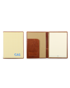 Legal Pad Portfolio - Monogram Stripe