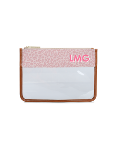 Clear Katie Pouch - Monogram Stripe
