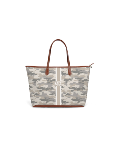 St. Anne Zippered Tote - Monogram Stripe