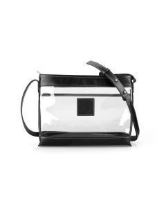 Clear Norfolk Crossbody - Black Florentine