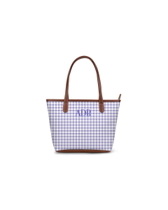 Chelsea Mini Zippered Tote - Monogram Stripe