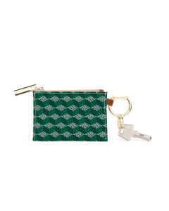 Kennedy Key Ring Zip Wallet - Leather Patch