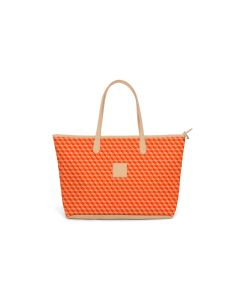 St. Anne Zippered Tote - Leather Patch