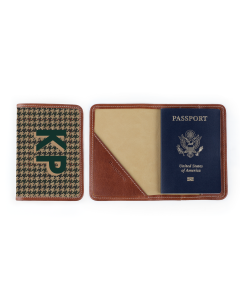 Glasgow Passport Case - Monogram Stripe