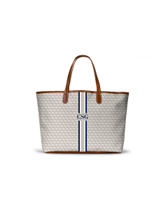 St. Anne Tote - Oyster Geometric