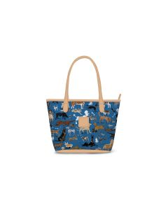 Chelsea Mini Zippered Tote - DRAWBERTSON Leather Patch