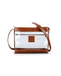 Clear Norfolk Crossbody - British Tan Florentine