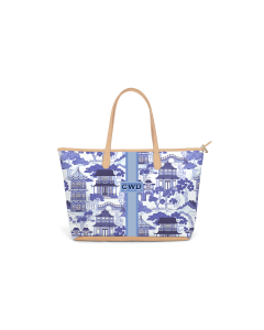 Caitlin Wilson St. Anne Zippered Tote - Canton Toile