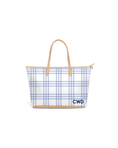 Caitlin Wilson St. Anne Zippered Tote - Grande Plaid in Eventide