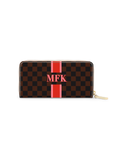 Crosby Zipper Wallet - Monogram Stripe