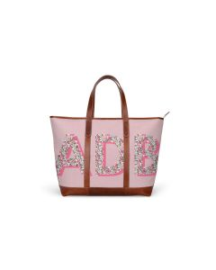 St. Charles Zippered Yacht Tote - Patterned Monogram