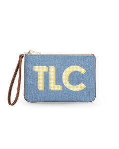 Everyday Essentials Pouch with Wristlet - Patterned Monogram