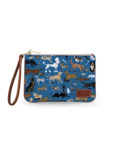 Everyday Essentials Pouch with Wristlet - DRAWBERTSON Leather Patch