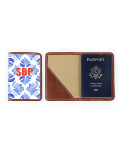 Glasgow Passport Case - Monogram Stripe
