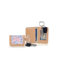 Kent Keyring Wallet - Caitlin Wilson Monogram Stripe