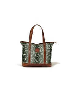Sonoma Zippered Tote - Leather Patch