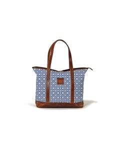 Sonoma Zippered Tote - Caitlin Wilson Leather Patch
