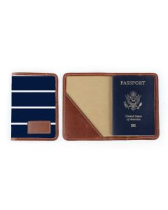 Glasgow Passport Case - Leather Patch