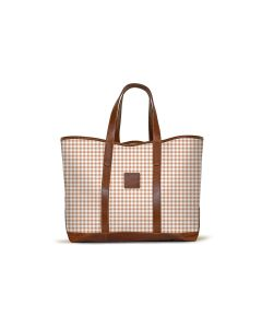 St. Charles Yacht Tote - Leather Patch