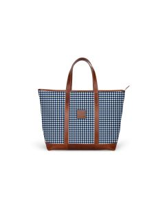 St. Charles Zippered Yacht Tote - Leather Patch