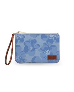 Everyday Essentials Pouch with Wristlet - Leather Patch