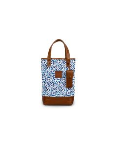 Westport Wine Tote - Leather Patch