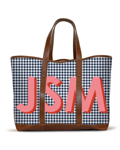 St. Charles Yacht Tote - British Tan Florentine Leather front view