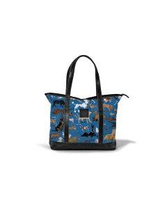 Sonoma Zippered Tote - DRAWBERTSON Leather Patch