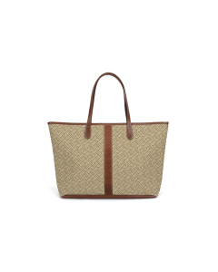 St. Anne Tote - British Tan Florentine Leather full frontal