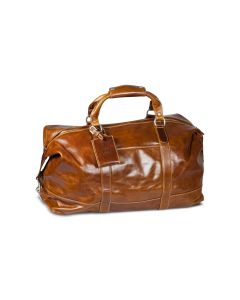 Captain's Bag - British Tan Florentine Leather  front view
