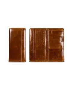 Travel Organizer - British Tan Florentine Leather open view