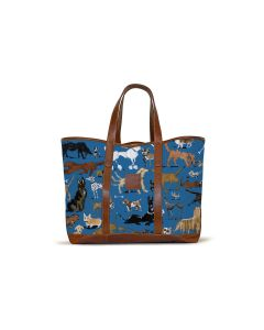 St. Charles Yacht Tote - DRAWBERTSON Leather Patch