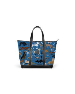 St. Charles Zippered Yacht Tote - DRAWBERTSON Leather Patch