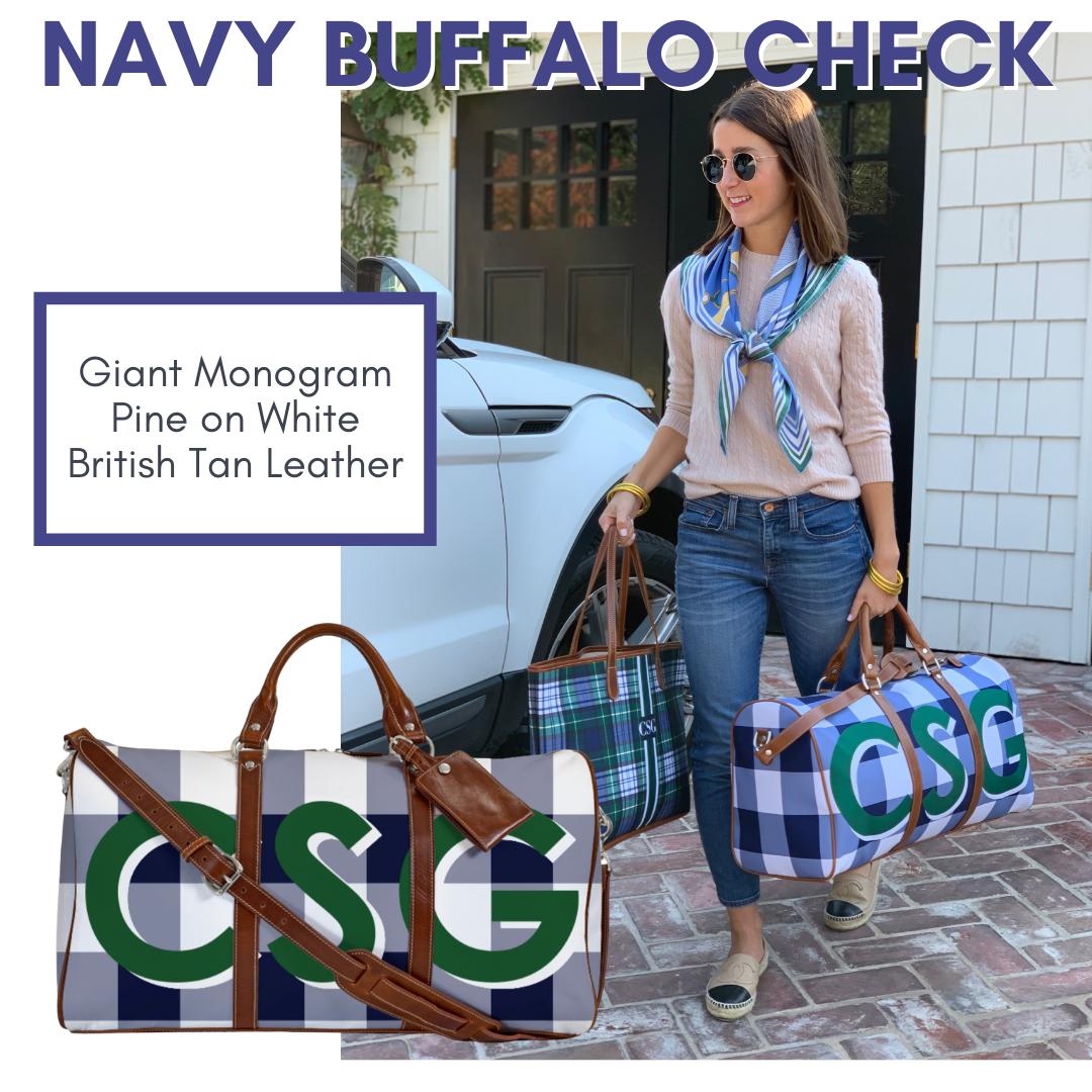 Navy Buffalo check