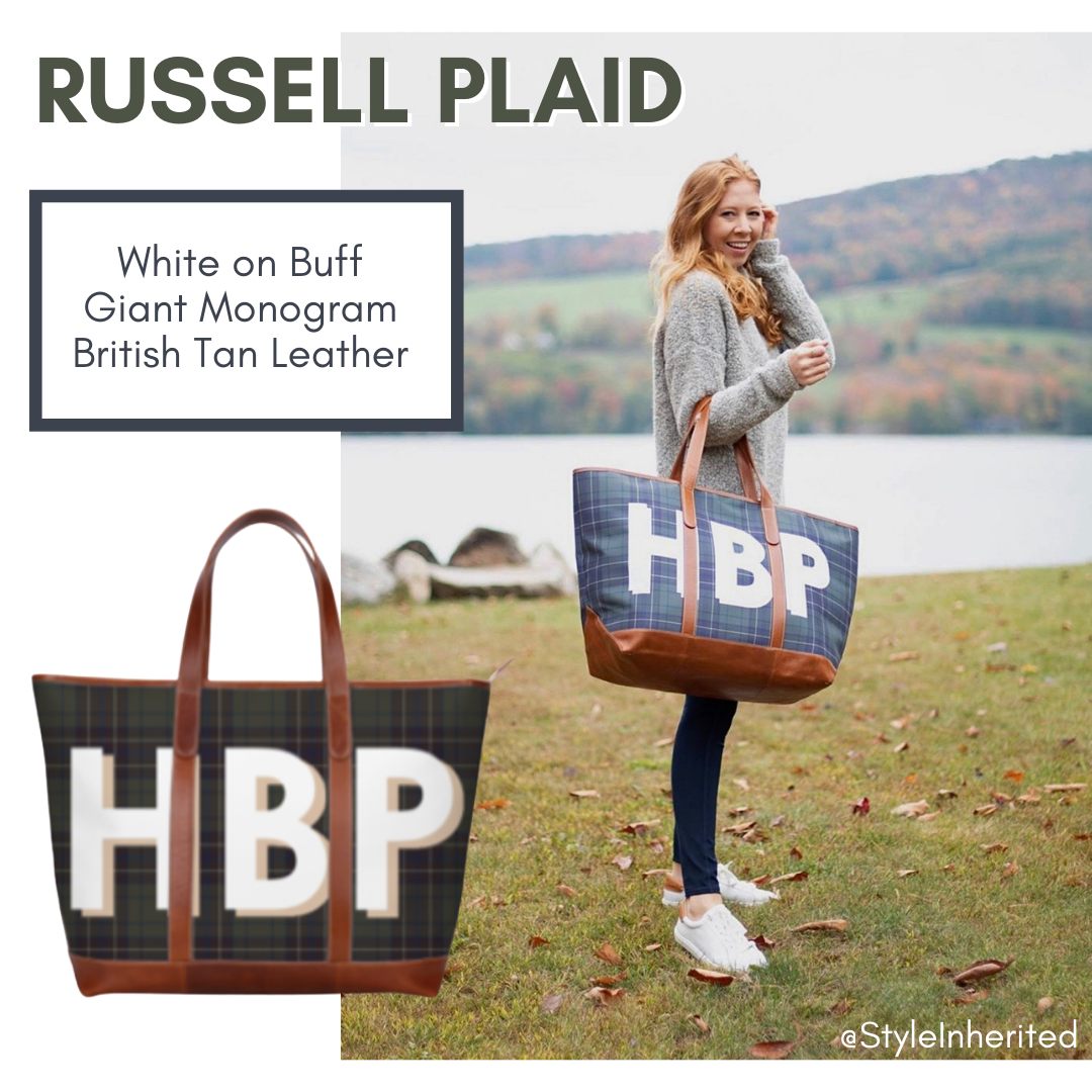 Russell Plaid Yacht Tote